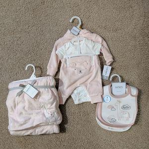 8 Piece Newborn Girl Bundle